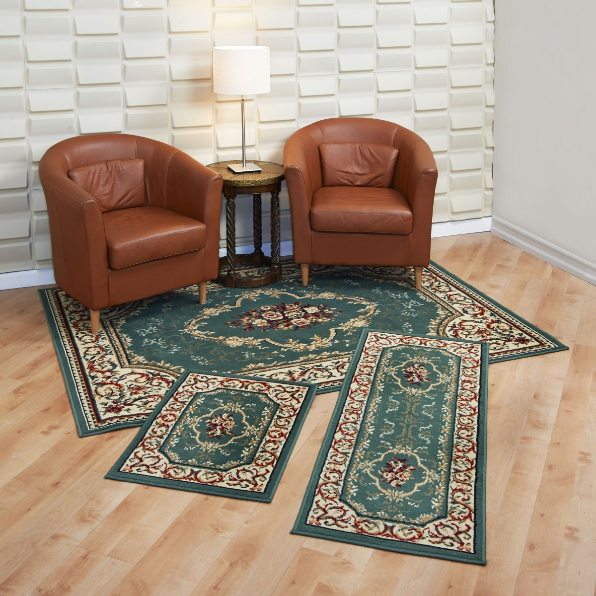 Capri 3 Piece Rug Set