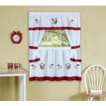Daisy Meadow Embellished Cottage Window Curtain Set