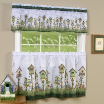Home Sweet Home  Printed Tier and Valance